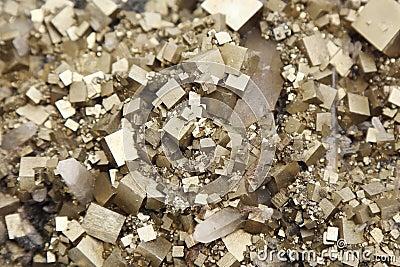 Pyrites with galena, calcite, quartz