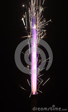 Pyrotechnic burning fire