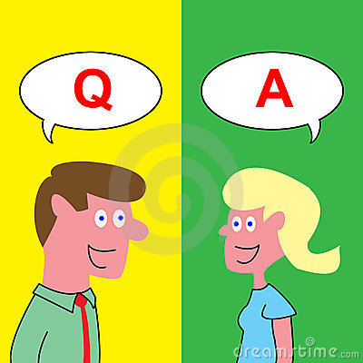 Q and A, Question and Answer Cartoon Graphic