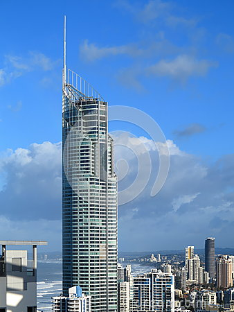 Q1 tower at Gold Coast skyline Editorial Photography