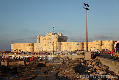Qaetbay Castle Alexandria Editorial Stock Photo