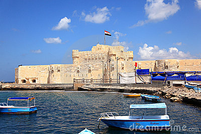 THE CITADEL OF QAITBEY Editorial Photo