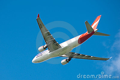 Qantas A330 in flight Editorial Photo