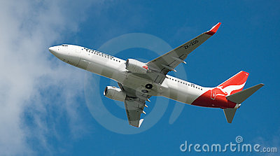 Qantas A330 in flight Editorial Stock Photo