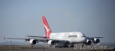 Qantas A380 arrives in Sydney Editorial Photo