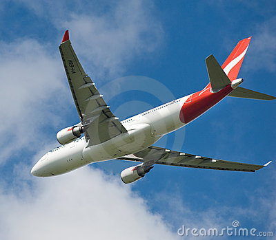 Qantas Airbus A330 in flight Editorial Photography