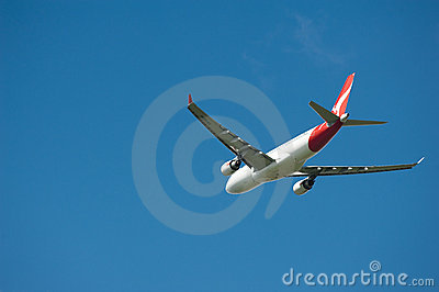 Qantas Airbus A330 in flight Editorial Photography