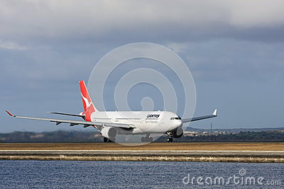 Qantas Airbus A330 jet airliner Editorial Photo