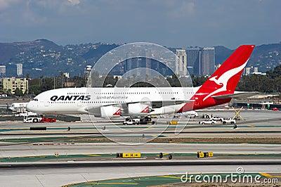 Qantas Airbus A380 Editorial Photo