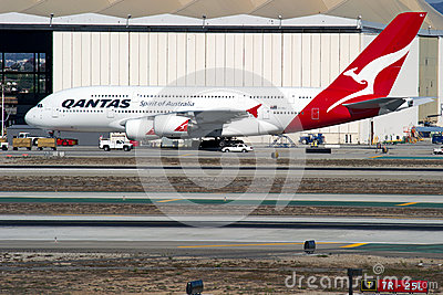 Qantas Airbus A380 Editorial Photography