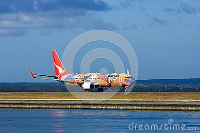 Qantas Airlines Boeing 737 Airliner Editorial Stock Image