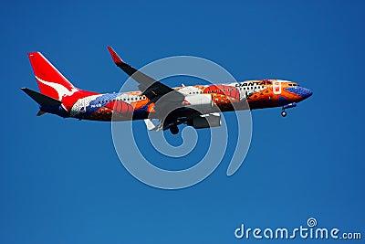 Qantas Boeing 737-800 Editorial Image
