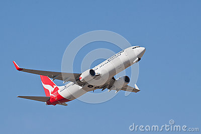 Qantas Boeing 737 VH VZX Editorial Image