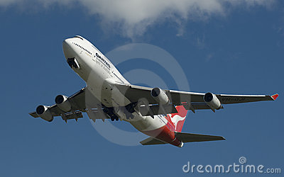 Qantas Boeing 747 Editorial Photography