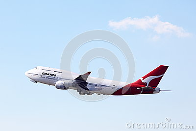 QANTAS BOEING 747 Editorial Stock Image