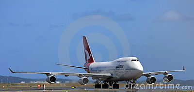 Qantas Boeing 747 jet Editorial Photo