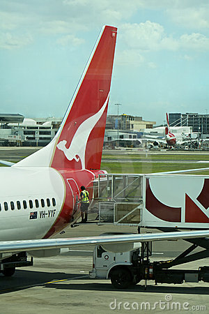 Qantas fleet grounded worldwide, Australia Editorial Stock Image