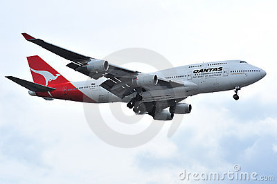 Qantas Jumbo 747 Commercial Airliner Editorial Photography