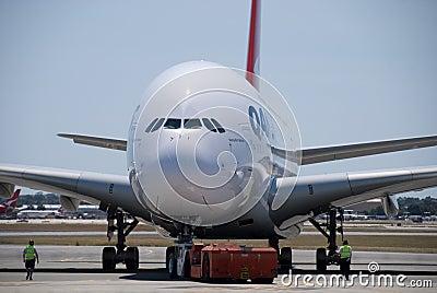 qantas  perth airport editorial photo image