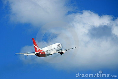 Qantas reaching for the sky Editorial Photo