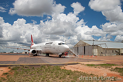 Qantas returns to birthplace Editorial Stock Image