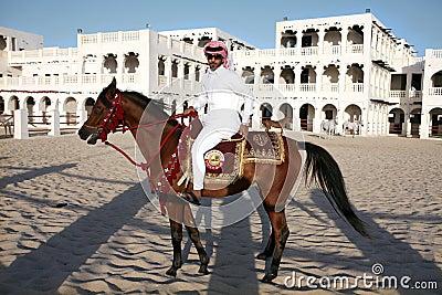 Qatar rider Editorial Image