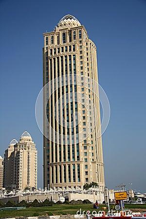 Qatar Telecom Headquarters in Doha Editorial Image