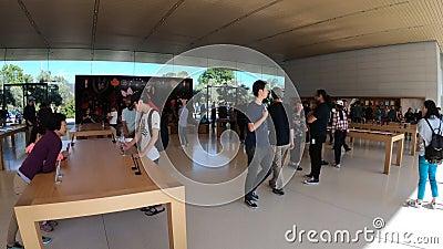 QG d'Apple Store banque de vidéos