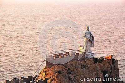 Qi Jiguang statue in the sea