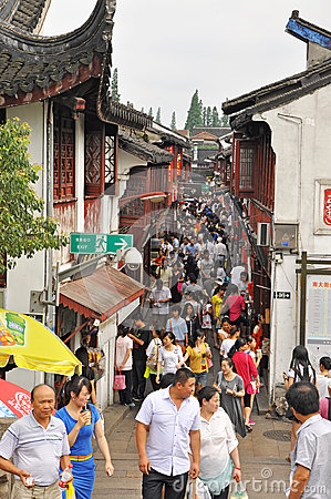 QiBao old town Editorial Stock Image
