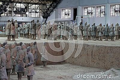 Qin dynasty Terracotta Army, Xian (Sian), China Editorial Photo