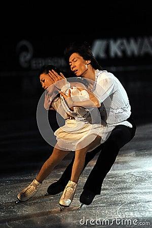 Qing Pang and Jian Ton ice skater at 2010 Ice Gala Editorial Stock Image