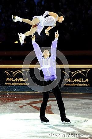 Qing Pang and Jian Tong at 2011 Golden Skate Award Editorial Image