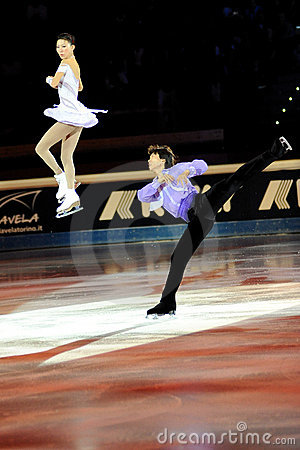 Qing Pang and Jian Tong at 2011 Golden Skate Award Editorial Stock Photo
