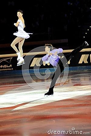 Qing Pang and Jian Tong at 2011 Golden Skate Award Editorial Stock Photo