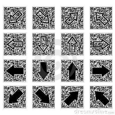QR code with arrows