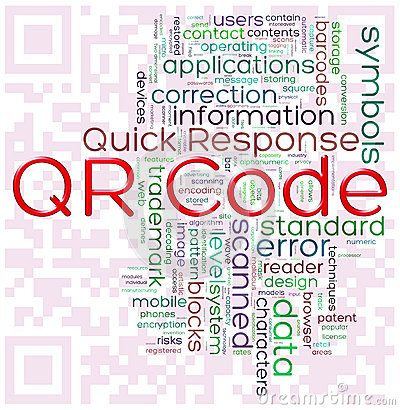 QR-code word tags Editorial Stock Image