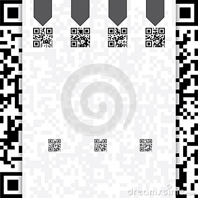 Qr coded website template design