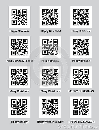 QR codes with congratulations