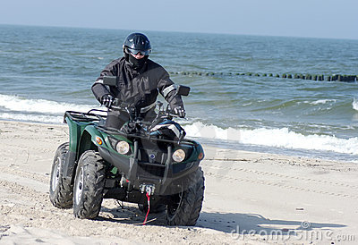Quad On A Beach (ATV) Royalty Free Stock Photography - Image: 4885097