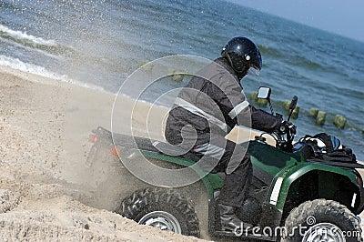 Quad on a beach (ATV)