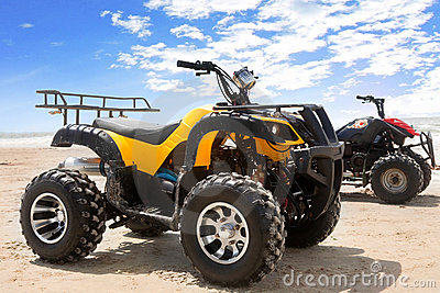 Quad bike on sand