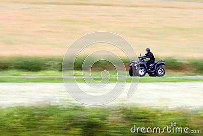 Quad bike and speed