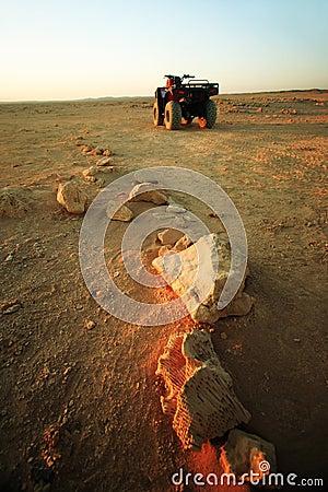 Quad bikes in desert