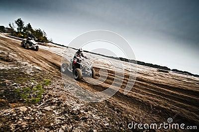 Quad bikes racing