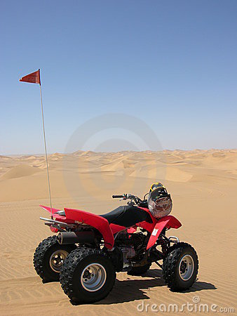 Quad in the desert