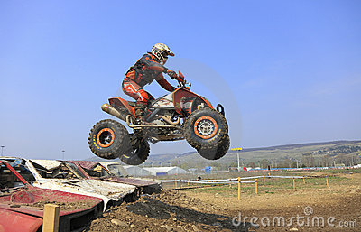 Quad jump Editorial Stock Photo