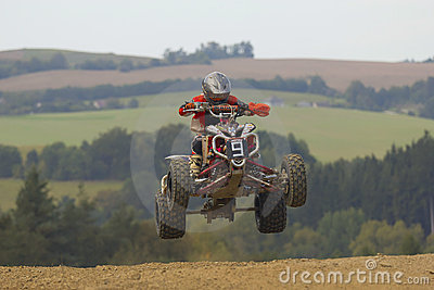 Quad jump Editorial Photo