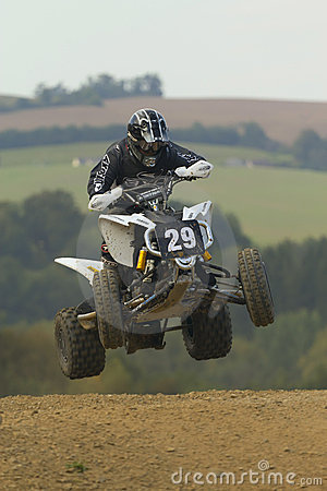 Quad jump (vertically) Editorial Photography
