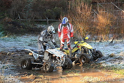 Quad motorbike participating on 4X4 adventure race Editorial Photo